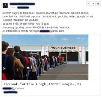 Vânzare grup facebook