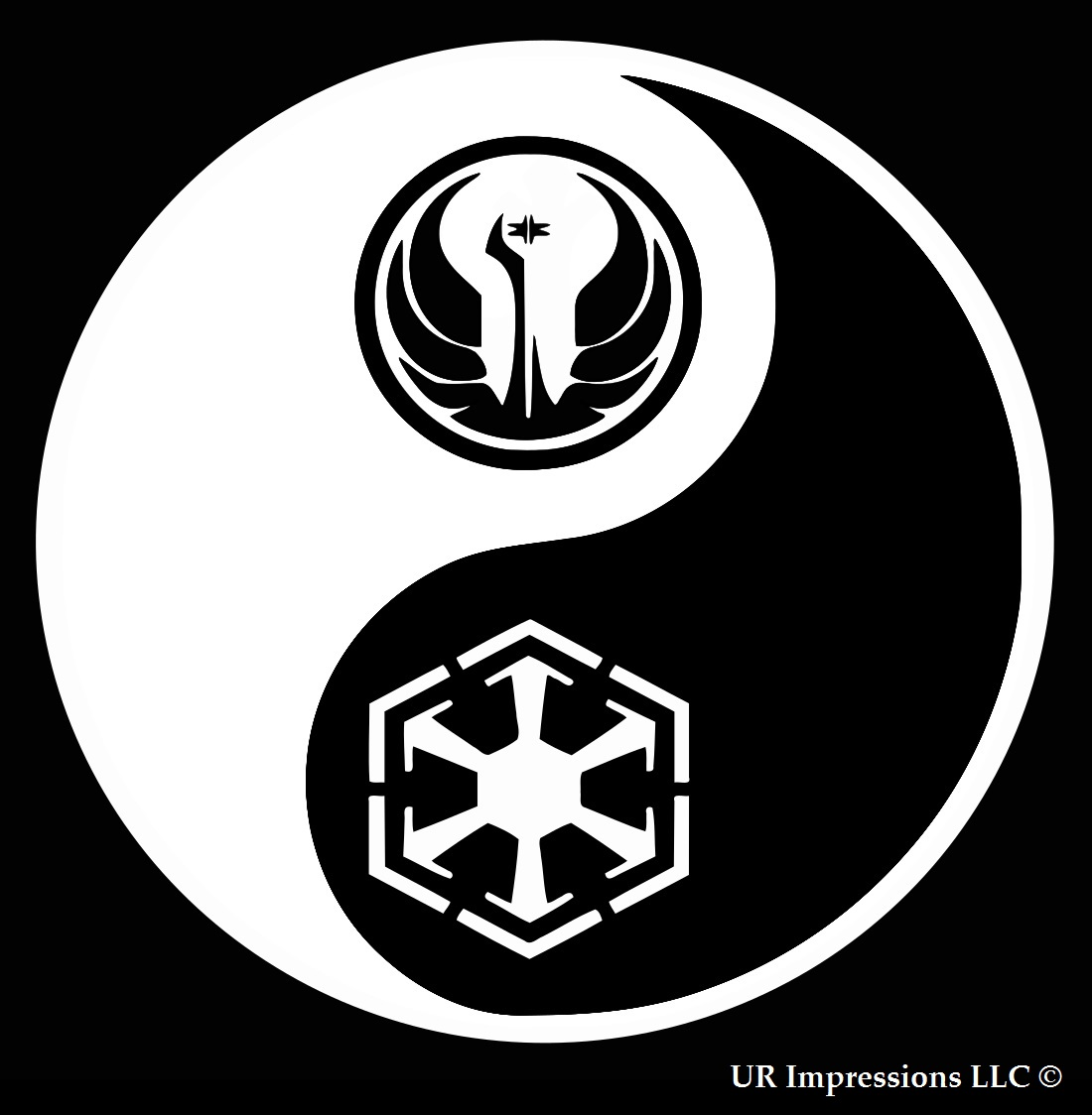 Yin and Yang Vinyl Decal Sticker ** 5 Sizes **