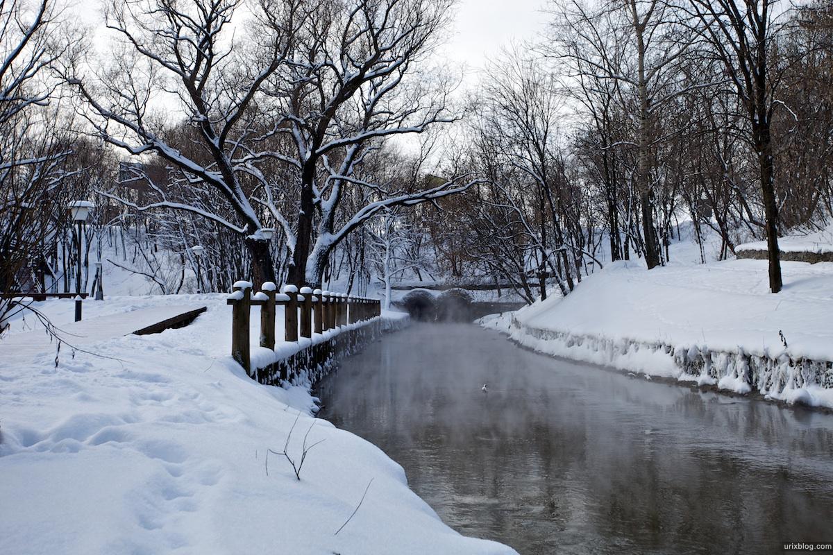 2010 Отрадное зима снег река парк Москва