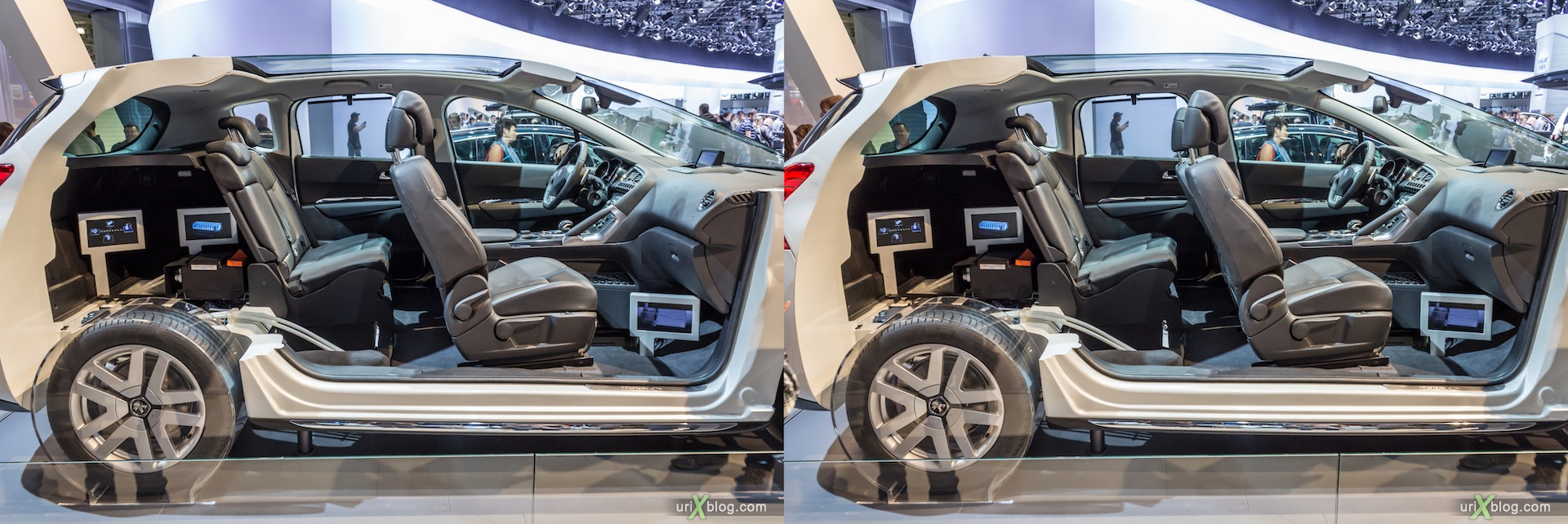 2012, машина в разрезе, Moscow International Automobile Salon, auto show, 3D, stereo pair, cross-eyed, crossview