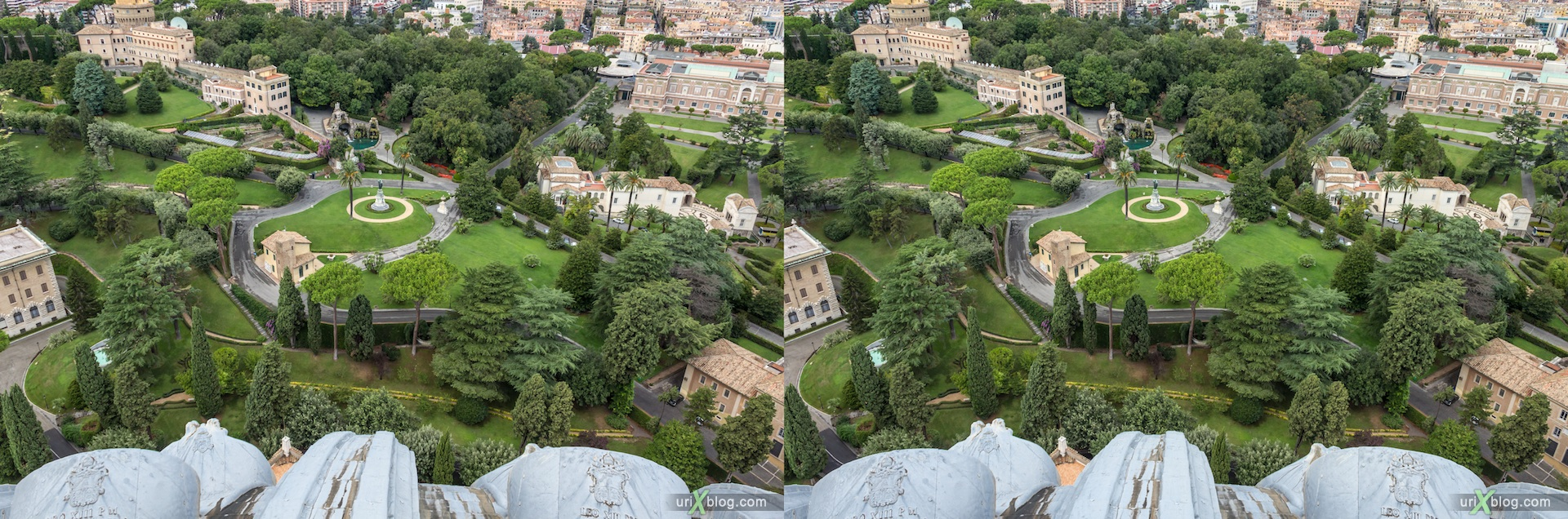 2012, Saint Peter's Basilica, Vatican, Rome, Italy, 3D, stereo pair, cross-eyed, crossview, cross view stereo pair