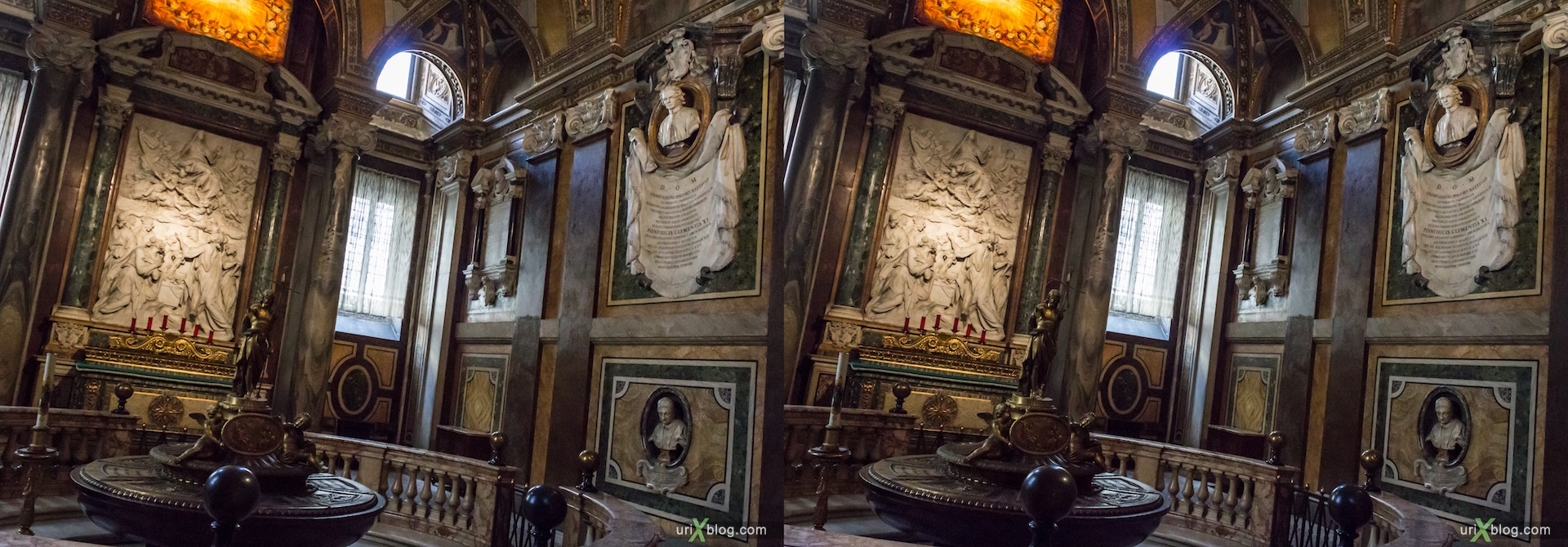 2012, basilica di Santa Maria Maggiore, church, Rome, Italy, cathedral, monastery, Christianity, Catholicism, 3D, stereo pair, cross-eyed, crossview, cross view stereo pair
