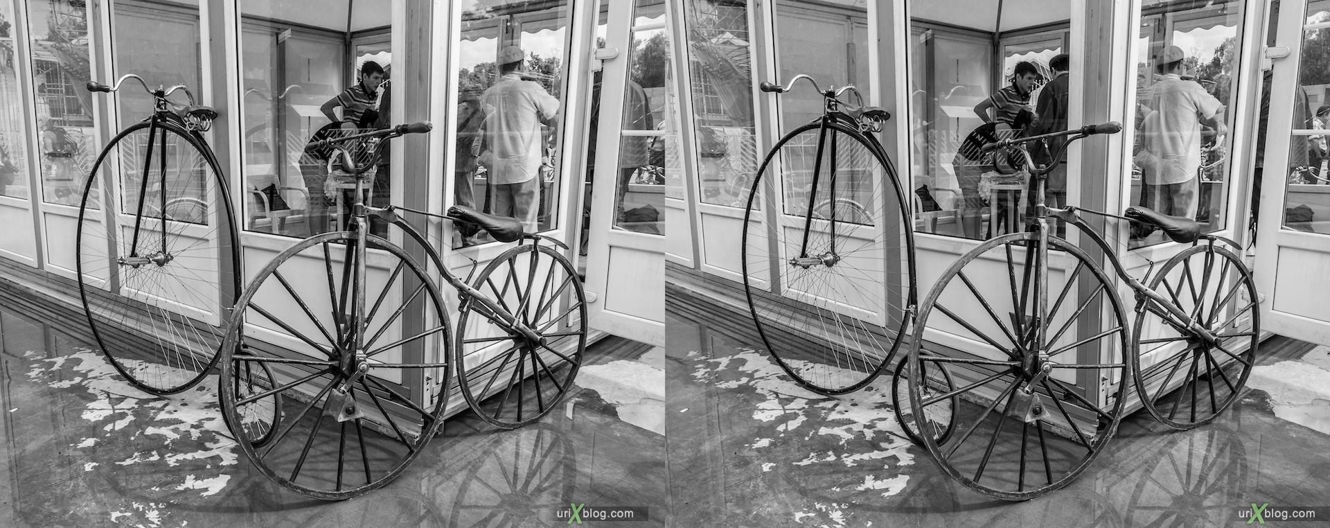 2013, ралли, старинный, велосипеды, Сокольники, парк, выставка, Москва, Россия, 3D, перекрёстные стереопары, стерео, стереопара, стереопары