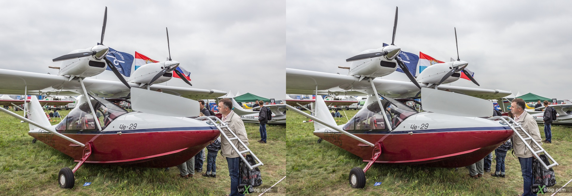 2013, Che-29, MAKS, International Aviation and Space Salon, Russia, Ramenskoye airfield, airplane, 3D, stereo pair, cross-eyed, crossview, cross view stereo pair, stereoscopic