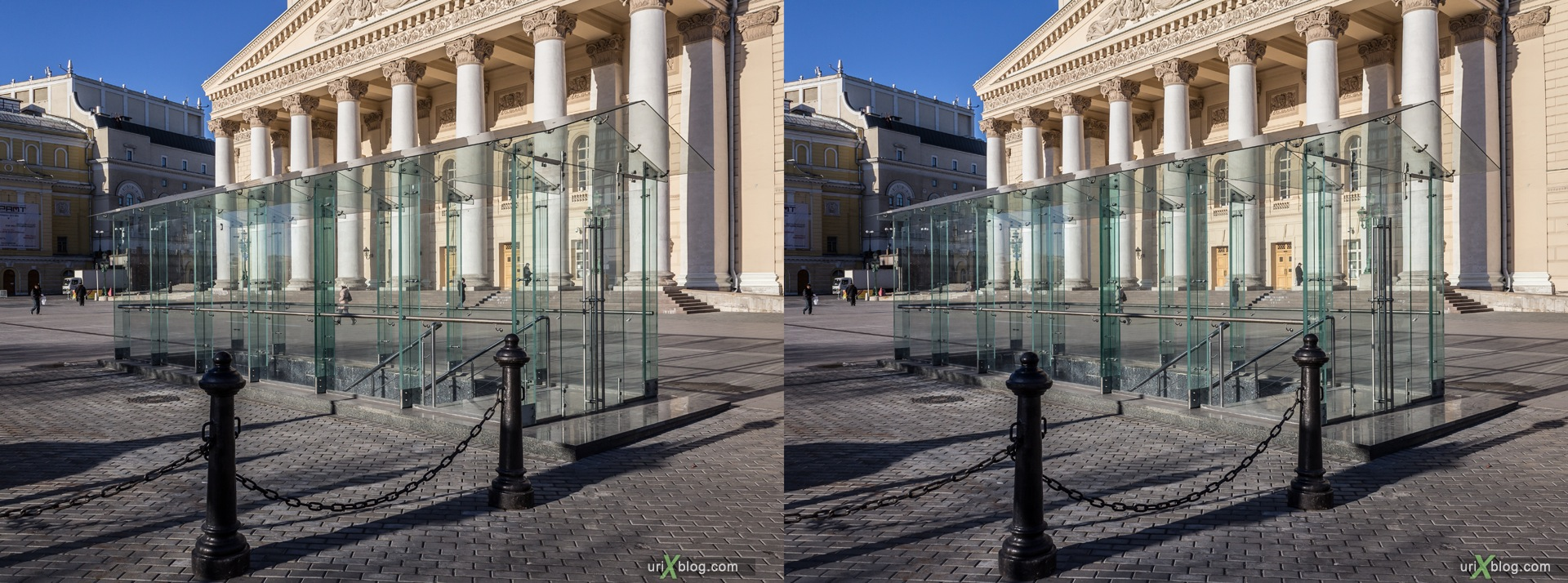 2013, Moscow, Russia, Teatralnaya square, Theatre square, Bolshow theatre, Grand theatre, 3D, stereo pair, cross-eyed, crossview, cross view stereo pair, stereoscopic