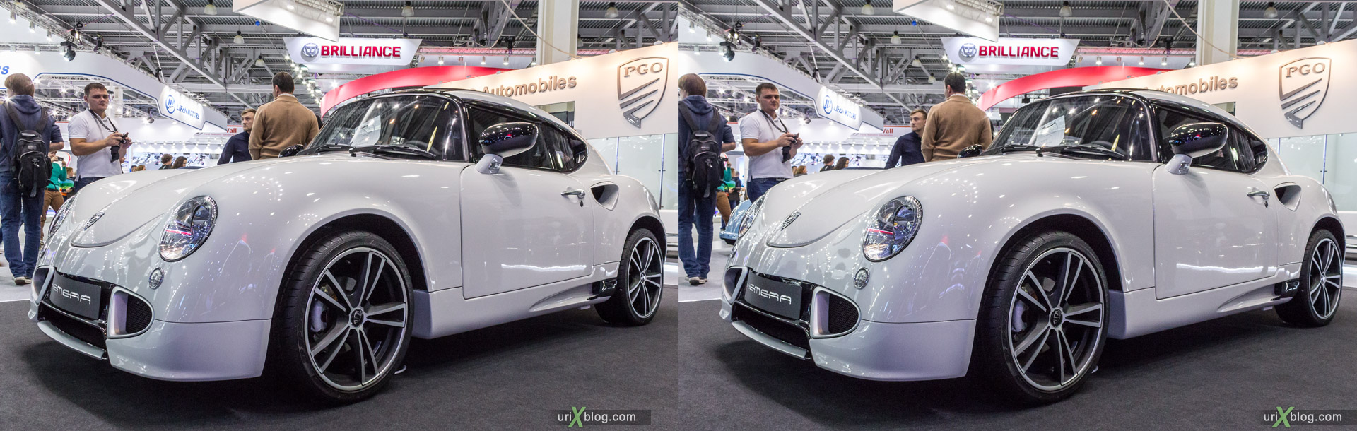 2014, PGO Hemera, Moscow International Automobile Salon, MIAS, Crocus Expo, Moscow, Russia, augest, 3D, stereo pair, cross-eyed, crossview, cross view stereo pair, stereoscopic