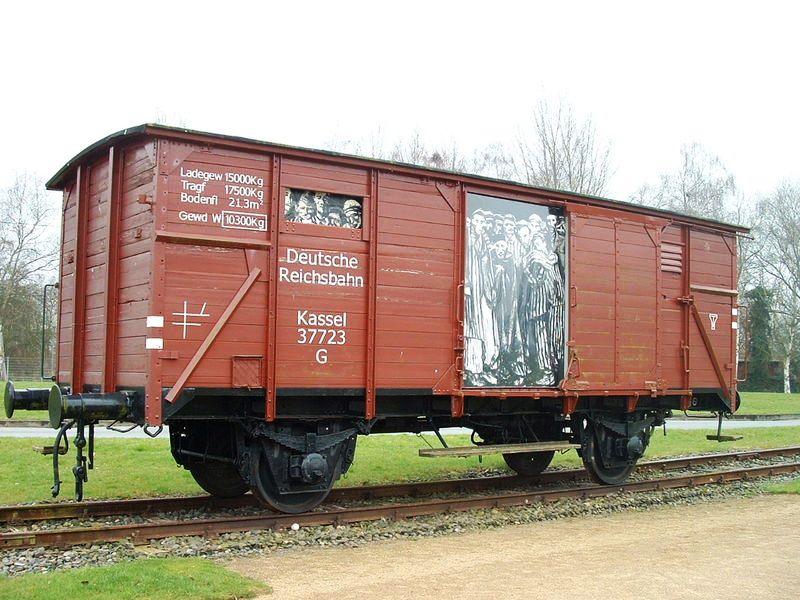 Wagon waarmee de gevangenen werden geevacueerd. (Vriendenkring Neuengamme)
