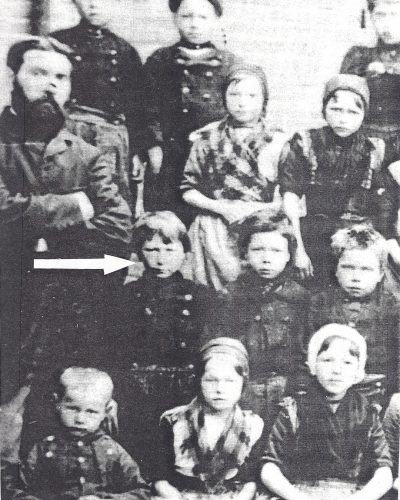 schoolfoto van Klaas als 10-jarige