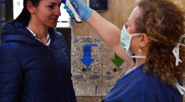 İzmirde Koronavirüse Karşı Ateş Ölçerli Önlem