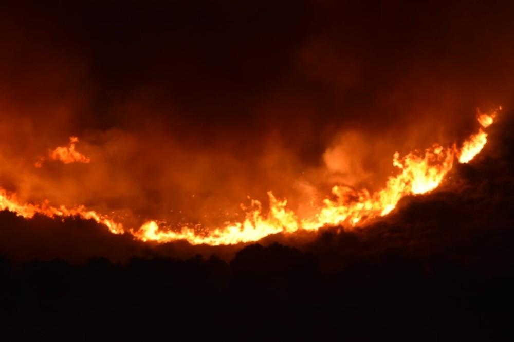 Urlada Otluk Alanda Korkutan Yangın