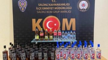 Manisa'da Şüpheli Araçtan Kaçak İçki Çıktı