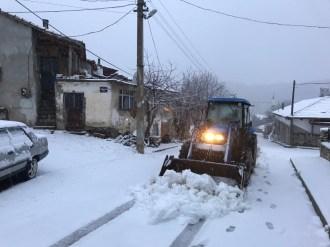 İzmirde Bozdağda Kar Sevinci