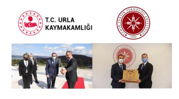 Urla Kaymakamı Murtaza Dayanç  İzmir Yüksek Teknoloji Enstitüsü'nü ziyaret etti.