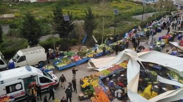 Güzelbahçe'deki Atatürk Kültür Merkezi'nin çatısı uçtu