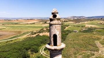 (Özel) Baraj suları çekildi, cami minaresi ortaya çıktı