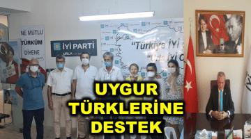 İYİ PARTİ URLA İLÇE BAŞKANLIĞI'NDAN UYGUR TÜRKLERİNE DESTEK GELDİ
