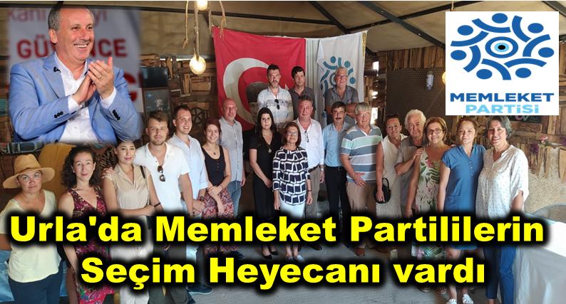 Urla'da Memleket Partililerin Seçim Heyecanı vardı