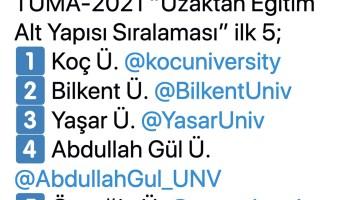 Yaşar Üniversitesi uzaktan eğitimde en başarılı 3. üniversite oldu
