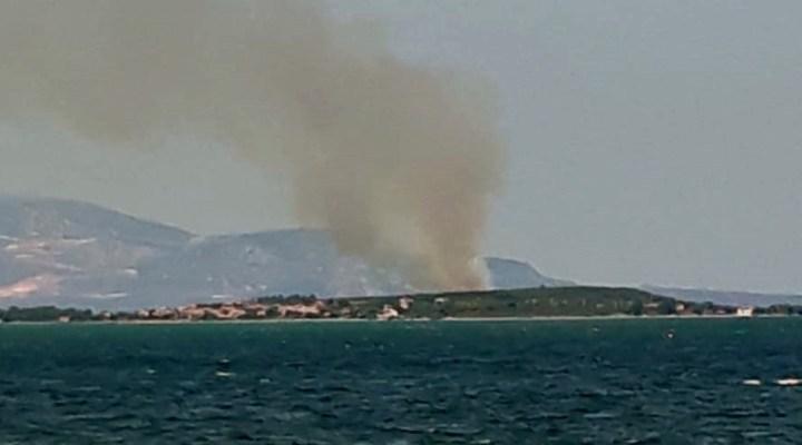 Özbek Mahallesi'nde çıkan orman yangını kısa sürede söndürüldü