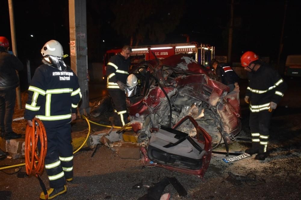 Aydında Trafik Kazası; 1 Ölü, 2 Yaralı