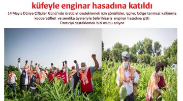 Başkan Soyer, Çiftçiler Gününde Sırtında Küfeyle Enginar Hasadına Katıldı
