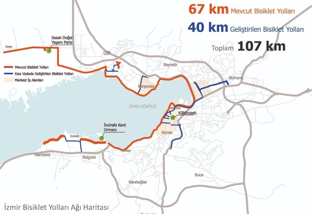 İzmire 100 Bisiklet Daha Geliyor