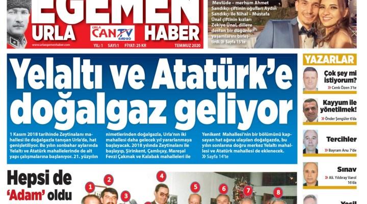 Urla Can & Egemen Haber Gazetesi Temmuz 2020 Sayısı
