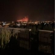 Çeşmede Yangın Sebebiyle 4 Site Boşaltıldı