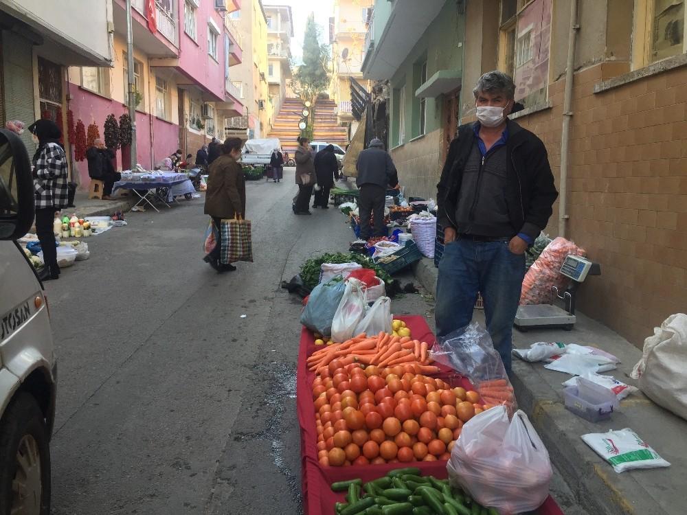 Alaşehirde Semt Pazarı Son Kez Kuruldu