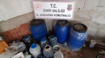 İzmirde Jandarma 600 Litre Kaçak Şarap Ele Geçirdi