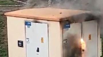 Trafo'da Çıkan Yangın Korkuttu