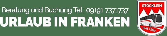 Beratung und Buchung - Urlaub in Franken - Individuelle Gruppenreisen
