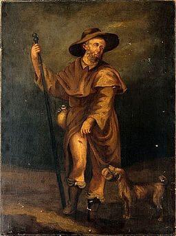 St. Rochus, Schutzpatron der Hunde