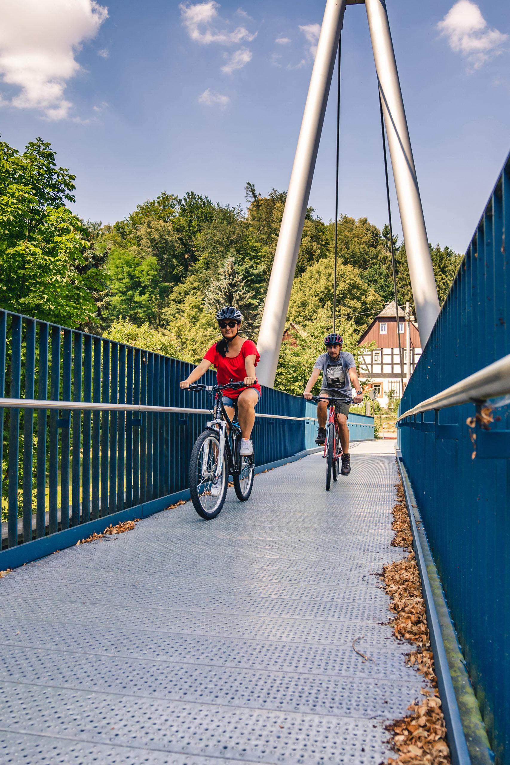 Der Mulderadweg in der Region um Zwickau