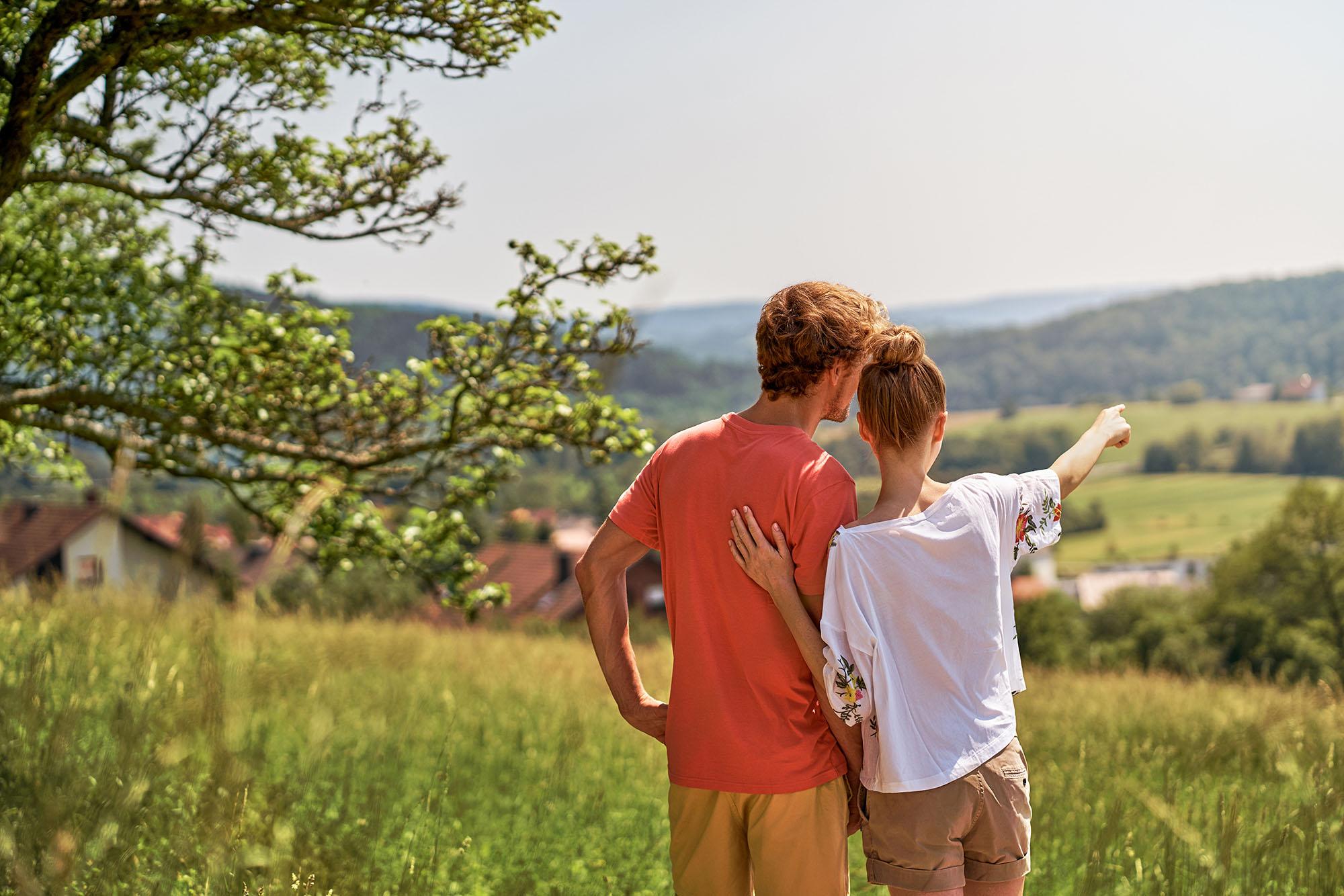 Ausblick im Bäderland Bayerische Rhön
