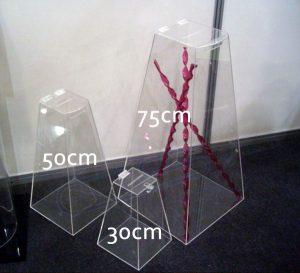urnas piramidal 0,30cm 0,50cm e 0,75cm