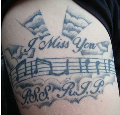 Peggy Sue Smith, RIP: My nephew had a memorial tattoo done to honor his