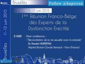 Hupertan Expert Dysfonction Erectile aux Première Recontres Franco-Belges des Experts de la dysfonction érectile