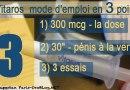 Vitaros crème mode d'emploi en 3 points: 300 mcg – 30 sec – 3 essais (pour les troubles de l'érection et NON d'eRRection)