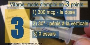Vitaros-300mcg-dose-mode-d-emploi-efficacite-impuissance-erection-errection-en-trois-point-hupertan-urologue-paris-1