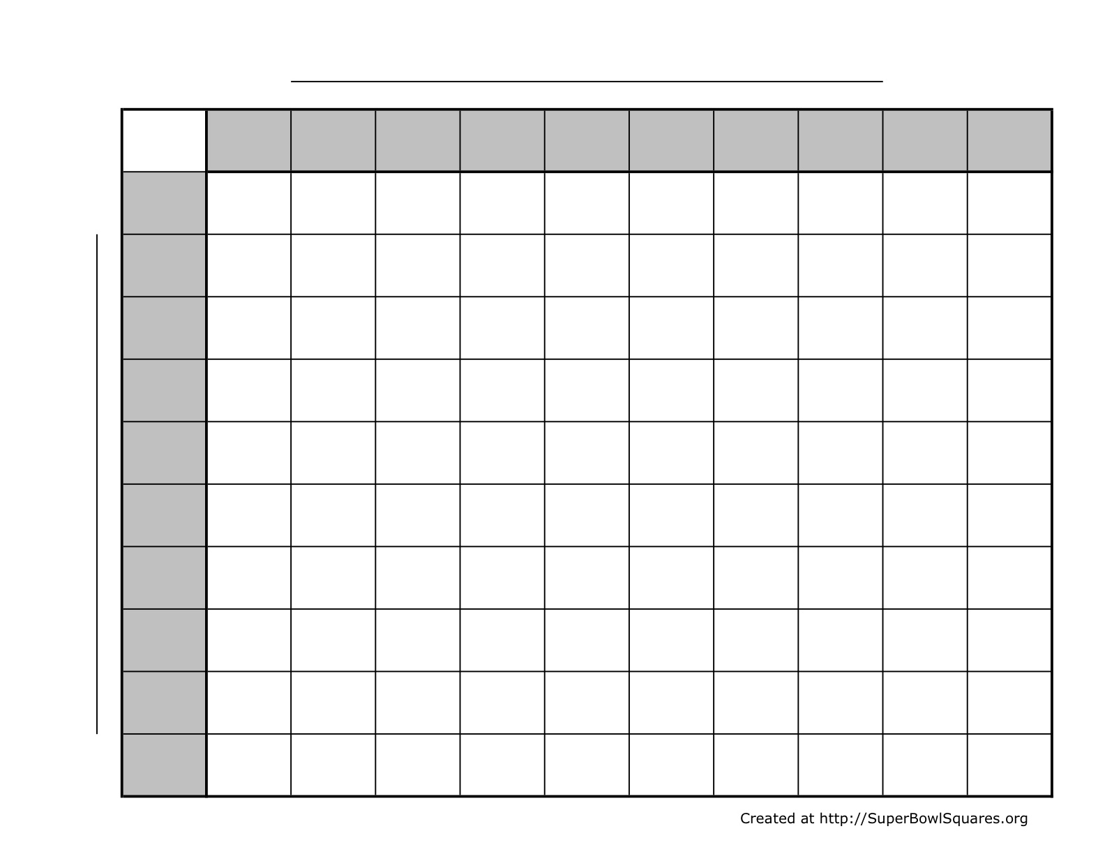 Blank 100 Square Grid Printable