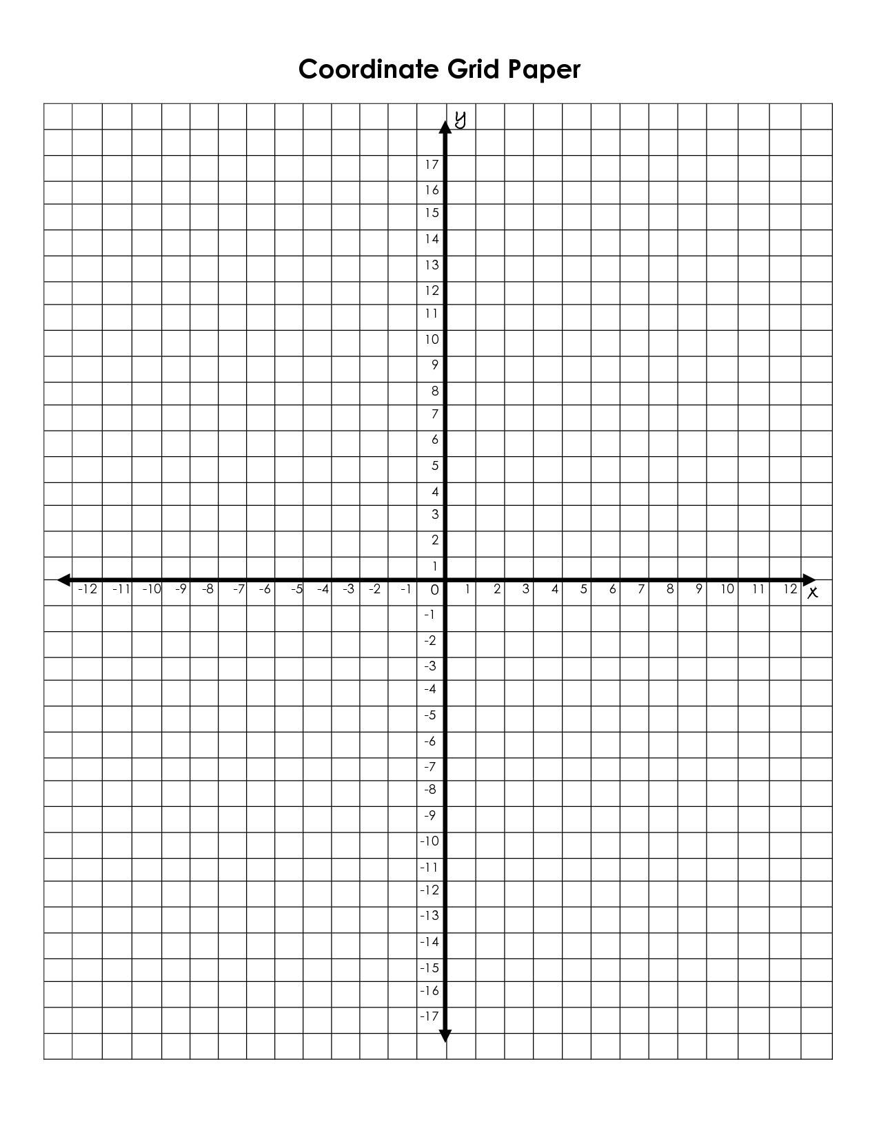 Printable Coordinate Grid