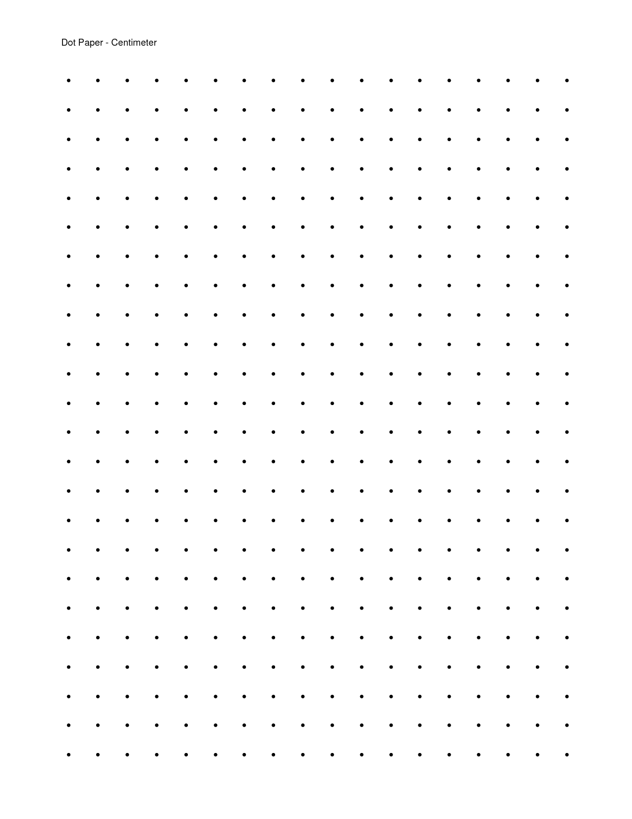 Printable Dot Grid Paper