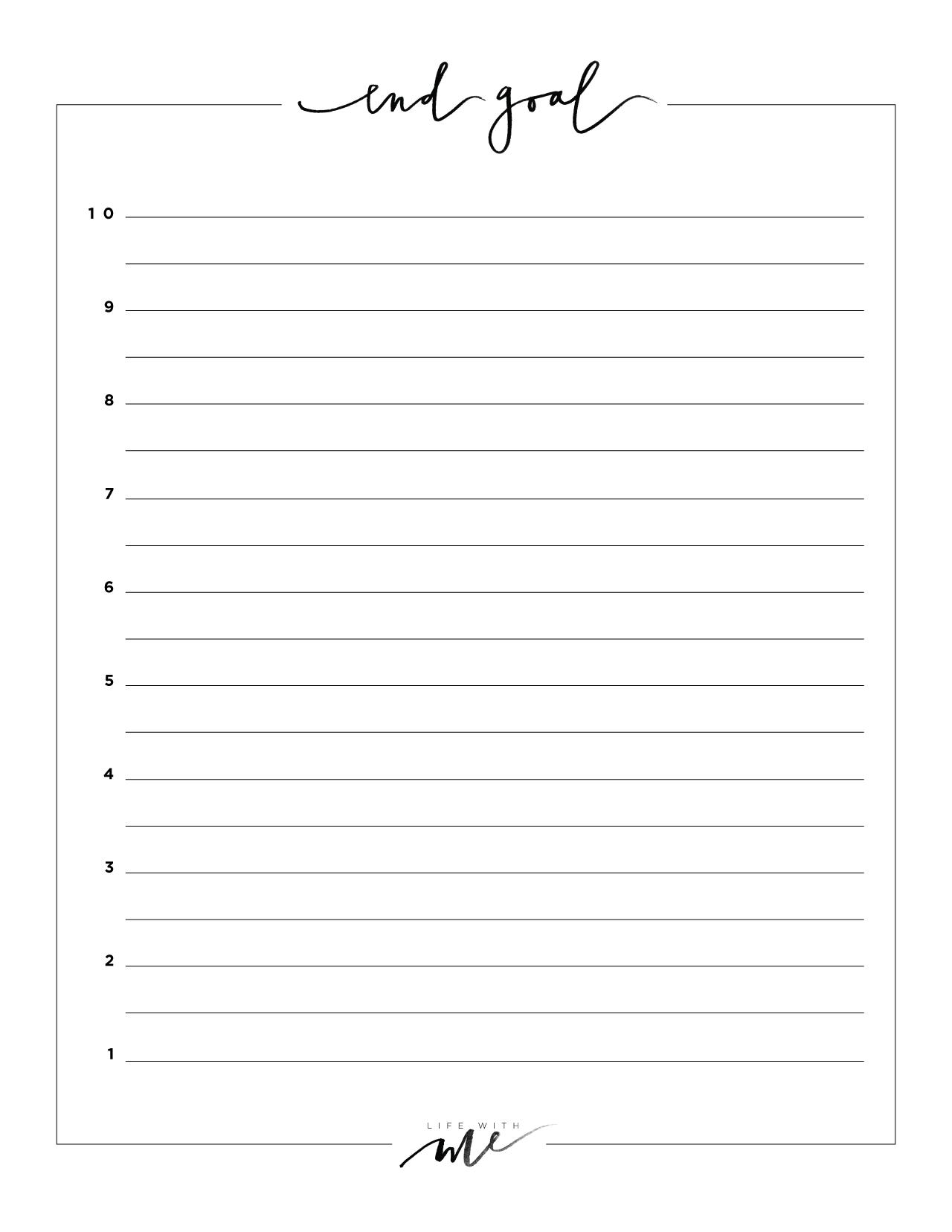 Printable Sheets