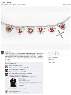 Fundraiser Cafepress ad using heart necklace