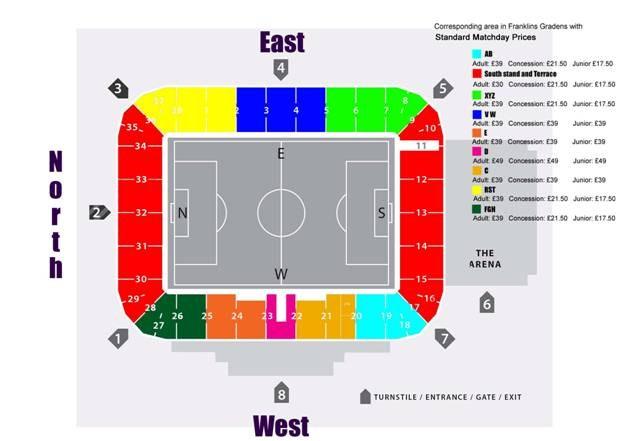 stadium mk seating plan  Jennies Blog  wimbledon f c
