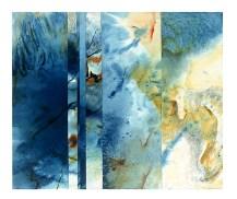 Ursula Kolbe 1990-1999 Watercolour Collages 'Beach'. Watercolour on paper