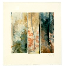 Ursula Kolbe 1990-1999 Watercolour Collages 'Between Trees'. Watercolour on paper