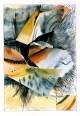 Ursula Kolbe 1990-1999 Watercolour Collages 'Facets'. Watercolour on paper