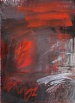 """""""Hidden"""" Gouache, Conté crayon on Arches 76 x 57cm"""